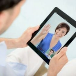 Patient and Doctor Consult via Tablet