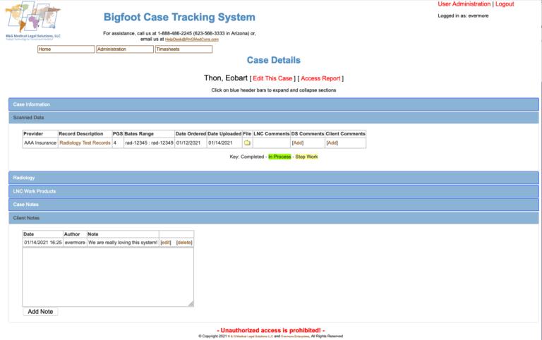 LCMS user interface sample image