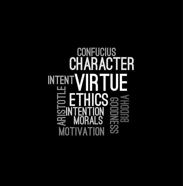 Ethics word art